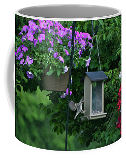 Coffee Mug featuring the photograph Chow Time For This Bird by Thomas Woolworth