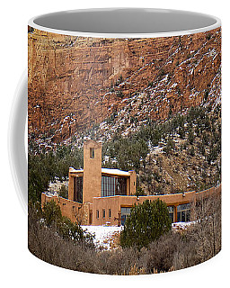 Coffee Mug featuring the photograph Christ In The Desert Monastery by Mary Lee Dereske