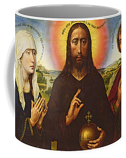 Christ The Redeemer With The Virgin And St. John The Evangelist, Central Panel From The Triptych Coffee Mug