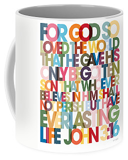 Christian Art- John 3 16 Versevisions Poster Coffee Mug by Mark Lawrence