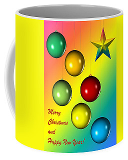 Christmas And New Year Coffee Mug by Cyril Maza