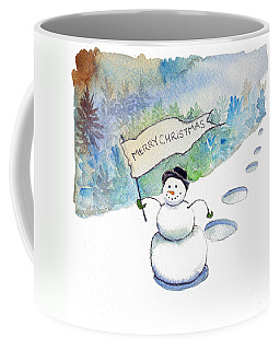 Coffee Mug featuring the painting Christmas Announcement by Katherine Miller