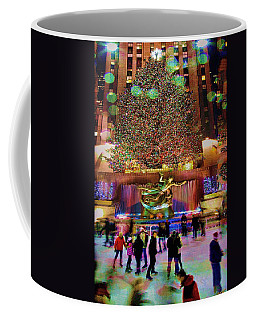 Coffee Mug featuring the photograph Christmas At The Rock by Chris Lord