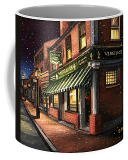 Christmas At Virgilios Coffee Mug by Eileen Patten Oliver