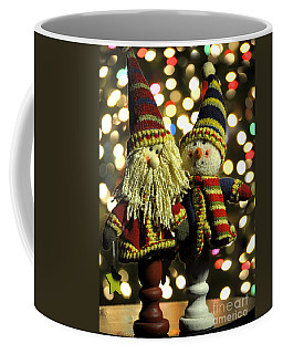 Christmas Candlestick Buddies Coffee Mug by Diane E Berry