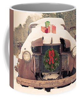 Christmas Car Card Coffee Mug