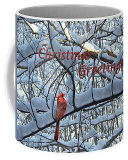 Christmas Card - Christmas Greeting Coffee Mug by Larry Bishop