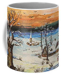 Christmas Card Painting Coffee Mug by Peter v Quenter
