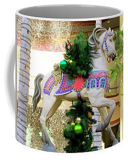 Christmas Carousel Horse With Pine Branch Coffee Mug