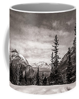 Christmas Day In Banff Bw Coffee Mug