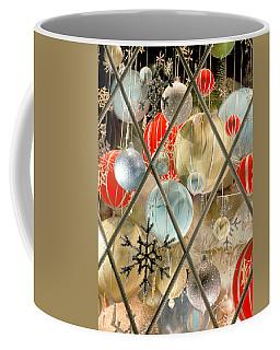 Christmas Decorations In Window Coffee Mug
