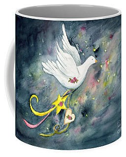 Christmas Dove In Flight Coffee Mug