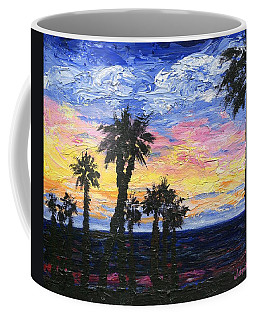Coffee Mug featuring the painting Christmas Eve In Redondo Beach by Jamie Frier