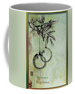 Coffee Mug featuring the painting Christmas Greeting Card With Ink Brush Drawing by Peter v Quenter