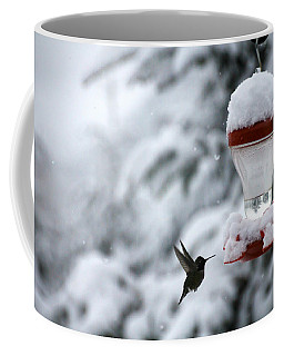 Christmas Hummingbird Coffee Mug by Katie Wing Vigil