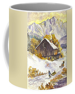 Coffee Mug featuring the painting A Winter Wonderland Part 1 by Carol Wisniewski