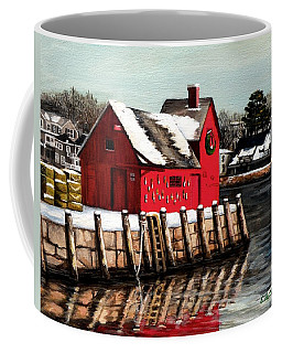 Christmas In Rockport Coffee Mug by Eileen Patten Oliver