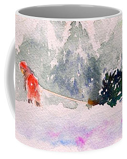 Christmas Is Coming Coffee Mug by Yoshiko Mishina