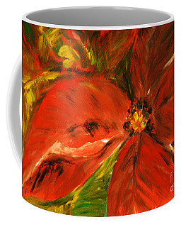 Coffee Mug featuring the painting Christmas Star by Jasna Dragun