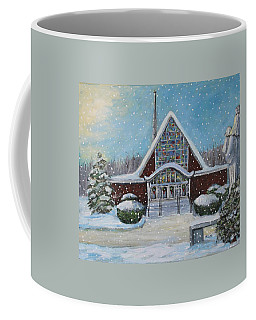 Coffee Mug featuring the painting Christmas Morning At Our Lady's Church by Rita Brown