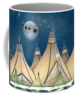 Christmas Night At Denver International Airport Coffee Mug