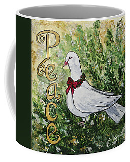 Christmas Peace Dove Coffee Mug