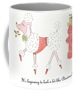 Christmas Poodle Coffee Mug