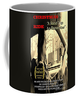 Christmas Ride Film Poster At Wheel Coffee Mug