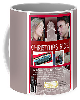 Christmas Ride Poster W Church Coffee Mug