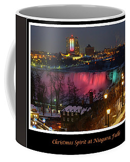 Christmas Spirit At Niagara Falls - Holiday Card Coffee Mug
