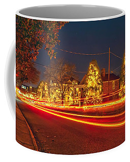 Coffee Mug featuring the photograph Christmas Town Usa by Alex Grichenko