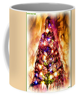 Coffee Mug featuring the digital art Christmas Tree by Daniel Janda