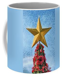Coffee Mug featuring the painting Christmas Tree by George Atsametakis