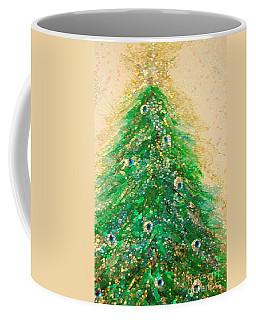 Christmas Tree Gold By Jrr Coffee Mug by First Star Art