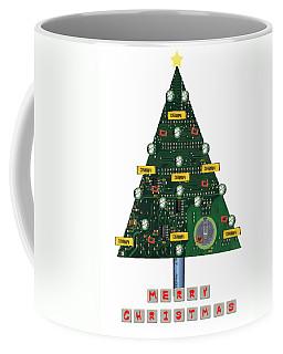 Christmas Tree Motherboard Coffee Mug