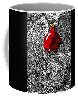 Christmas Tree Squirrel With Red Ornament Coffee Mug