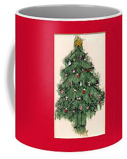 Christmas Tree With Red Mat Coffee Mug