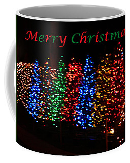Coffee Mug featuring the photograph Christmas Trees Dancing In The Night by Emmy Marie Vickers