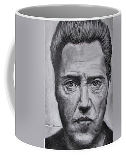 Coffee Mug featuring the drawing Christopher Walken by Eric Dee