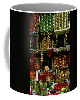 Glowing Fruit In Parisian Stand Coffee Mug by Tom Wurl