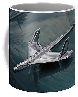 Chrome Airplane Hood Ornament Coffee Mug by Linda Bianic