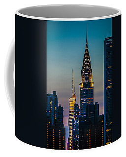 Coffee Mug featuring the photograph Chrysler Building At Sunset by Chris Lord