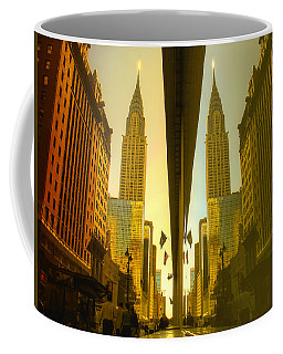 Chrysler Reflection On 42nd Street Coffee Mug by Dave Beckerman