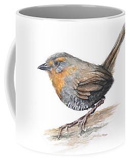 Chucao Tapaculo Watercolor Coffee Mug