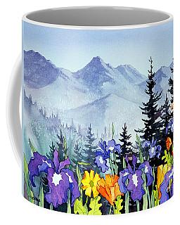 Coffee Mug featuring the painting Chugach Summer by Teresa Ascone