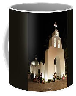 Church At Night In Playa Del Carmen Coffee Mug