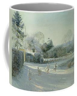 Church Boundary, Bedfield Oil On Canvas Coffee Mug