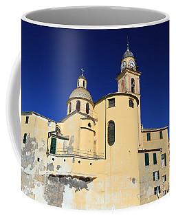 Coffee Mug featuring the photograph Church In Camogli by Antonio Scarpi