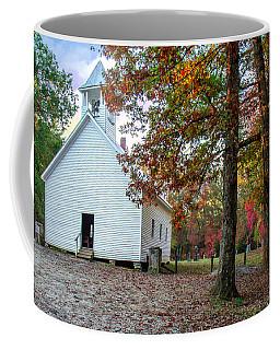 Church In Fall Coffee Mug