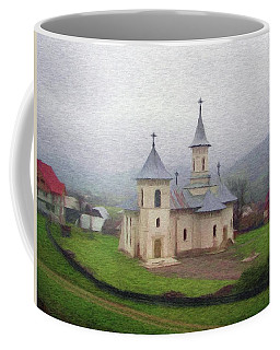 Church In The Mist Coffee Mug